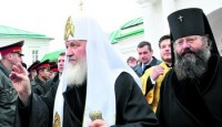 Приезд патриарха в обитель 4 октября 2009 г. в день обретения мощей святителя Димитрия