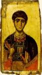 Икона Святой великомученик Димитрий Солунский. Икона XIV в., монастырь Ватопед