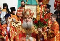 Митрополит Пантелеимон в Спасо-Яковлевском монастыре. Крестный ход после Литургии на Светлой Седмице 2012 г.