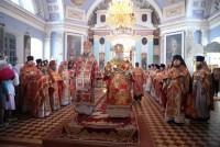 Совершение митрополитом Пантелеимоном Божественной литургии в Спасо-Яковлевском монастыре