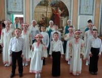Праздничное выступление учеников воскресной школы.