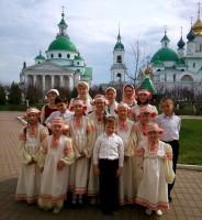 Воспитанники Воскресной школы перед выступлением