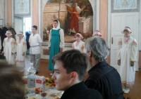 Выступление учеников Воскресной школы Спасо-Яковлевского монастыря в день памяти Свт. Димитрия Ростовского, 4 октября 2015 г.