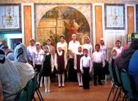 Концерт учеников Воскресной школы в день памяти святителя Димитрия для гостей и прихожан нашего монастыря. 10 ноября 2014 г.