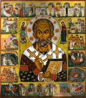 . Икона Святителя Николая Чудотворца. Современная копия иконы кон. XIII в.)