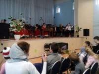 Выступление Ростовского оркестра народных инструментов.