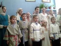 Концерт учащихся Воскресной школы Спасо-Яковлевского Димитриева монастыря в селе Белогостицы 21 февраля 2016 г.