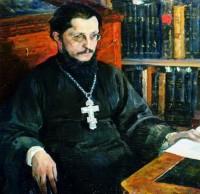 Тяжелые думы. Портрет священника Сергия Дурылина. Худ. М. В. Нестеров. 1927.