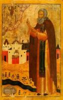 Икона прп. Сергия Нуромского.