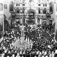 Служение о. Иоанна в Андреевском соборе Кронштадта.