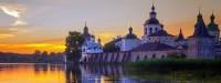 Закат над Кирилло-Белозерским монастырем.
