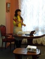 Автор и ведущая литературной встречи М. Л. Рубцова