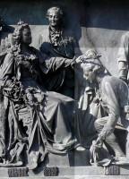 Фрагмент памятника «Тысячелетие России». Императрица Екатерина и князь Г.А. Потемкин.
