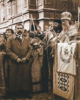 Молебен  Патриарха Тихона у Никольских ворот в 1918 г.