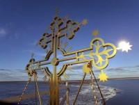 Крест колокольни Спасо-Каменного монастыря. Фото вологодского архиепископа Максимилиана.