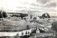 Павло-Обнорский монастырь – на старой литографии.