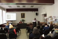 Презентация издания проповедей свт. Димитрия в Ярославской областной библиотеке 11 апреля 2018 года.