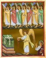 Ангел с золотой кадильницей перед жертвенником