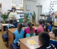 Занятие в библиотеке поселка Поречье