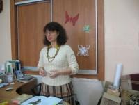 Ведущая встречи М.Л. Рубцова