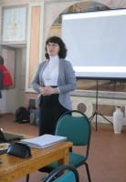 Автор и ведущая беседы о колоколах и колокольных звонах М.Л. Рубцова.