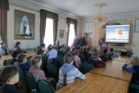 Беседа о колоколах и колокольных звонах для школьников в Спасо-Яковлевском монастыре. 16 марта 2015 г.